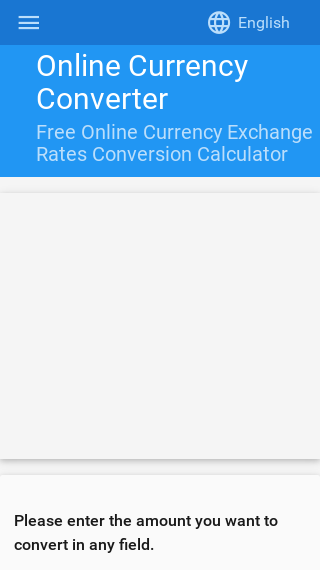 Free Online Exchange Rates Conversion Calculator